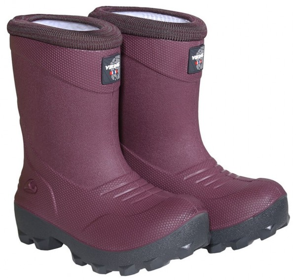 Kinder Winterstiefel warm pvc frei Viking Frost Fighter wine-charcoal Gr. 21 bis 39  Art.Nr. 5-24150-4177