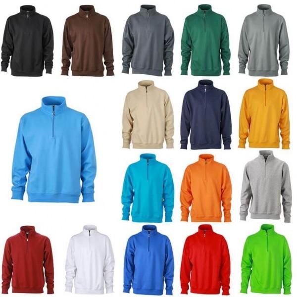 James & Nicholson Arbeits Sweatshirt in 17 Farben
