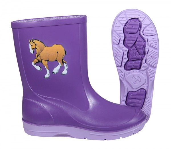 Beck Gummistiefel Kinder lila✔ mit Pferd Motiv✔