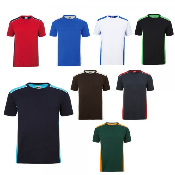 JN Collagenbild Herren Arbeits T-shirt in 8 verschiedene Farben