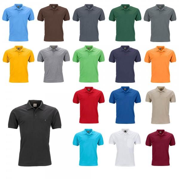 Arbeits Poloshirt Herren mit brusttasche JN846 17 Farb Varianten Kaufen