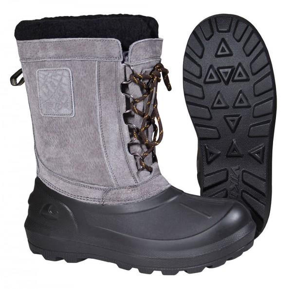 Winterstiefel Damen Herren✔ Wasserabweisender Lederschaft✔ Größe 38 bis 47✔ charcoal-black✔