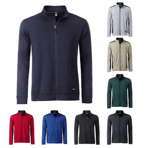 James Nicholson weiche Strickfleece Jacke Herren in 8 verschiedene Farben Blau kaufen