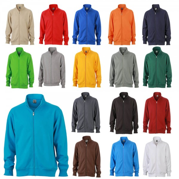 Sweatjacke Unisex in vielen Farben erhältlich von James Nicholson