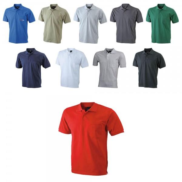 Herren Poloshirt 100 % Baumwolle von James Nicholson JN922 in 10 verschiedenen Farben kaufen